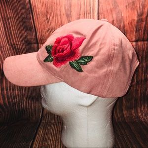David & Young Crushed Velvet Rose Baseball Hat